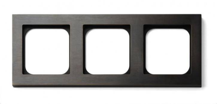 Frame - 3 gang - bronze
