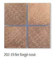 Basalte 202-19 Sentido Frontplatte 4fach - Farbe: fer forgé rosé