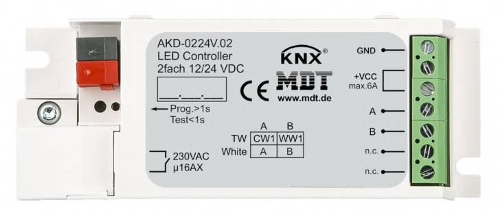 MDT AKD-0224V.02 KNX LED Controller für 2 weisse LED Stripes