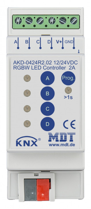 MDT AKD-0424R2.02 LED Controller 4-Kanal, 2/4A, RGBW, 2TE REG