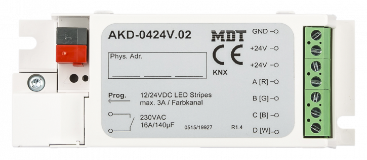 MDT AKD-0424V.02 RGBW LED Controller für 12/24V LED Stripes