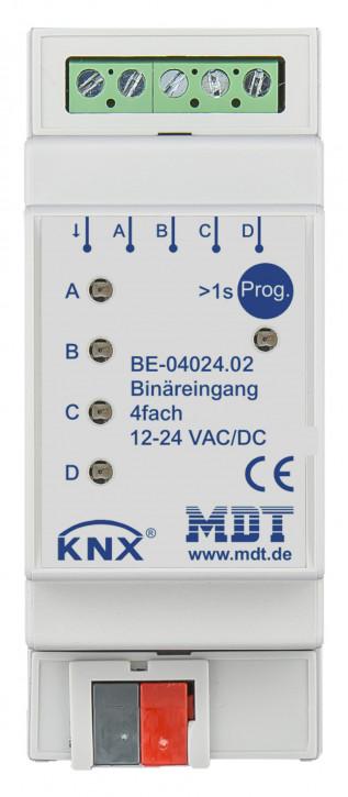 MDT BE-04024.02 Binäreingang 4-fach, 2TE, REG, Ausführung 24VAC/DC