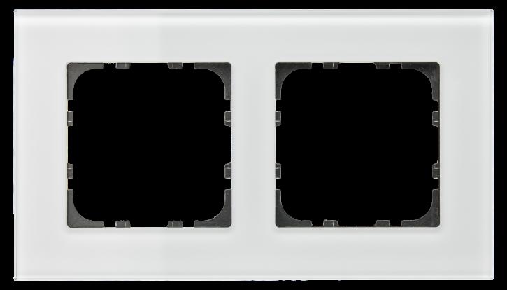 MDT BE-GTR2W.01 Glasrahmen für 55 mm Programme 2-fach, Weiss