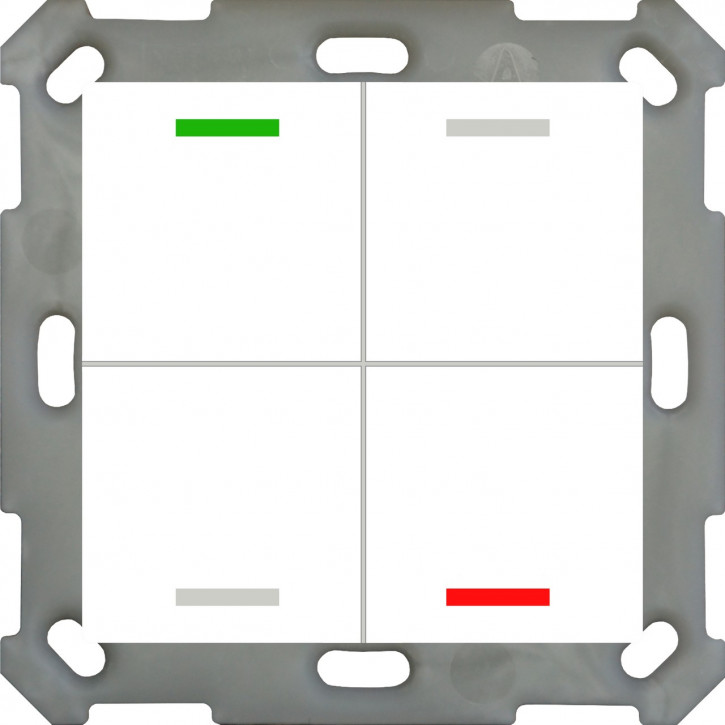 MDT BE-TAL5504.01 Taster Light 55 4-fach, RGBW, Reinweiß glänzend, Neutral