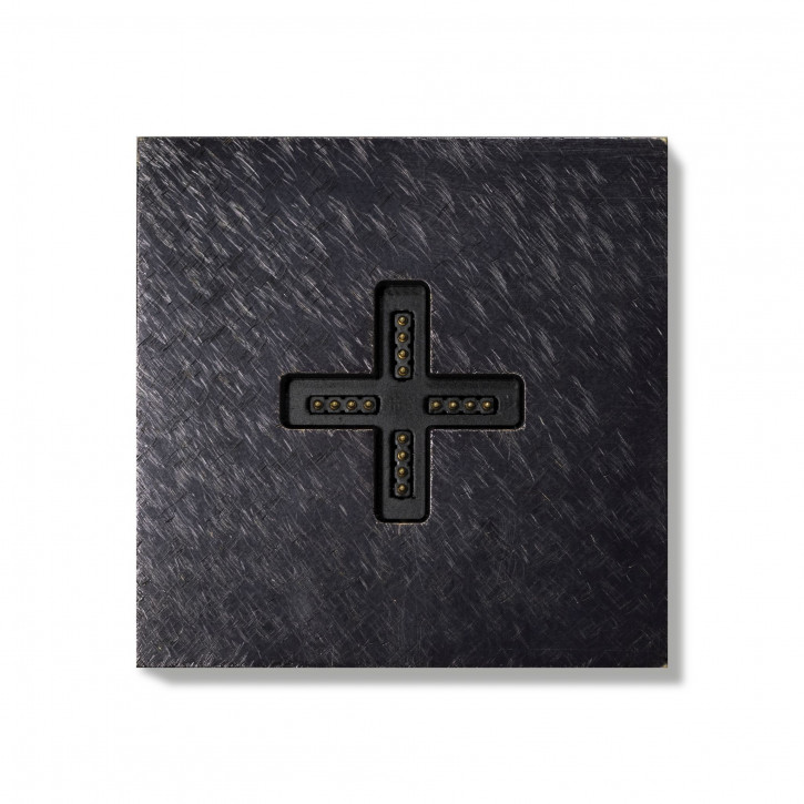 Basalte-0131-17 Eve plus - wall base cover - fer forgé gunmetal