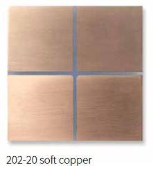 Basalte 202-20 Sentido Frontplatte 4fach - Farbe: soft copper