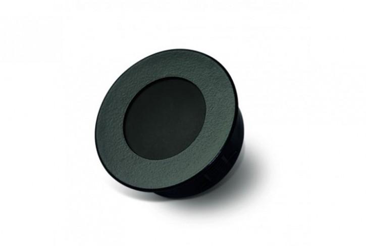 Basalte 0180-03 AURO KNX Deckeneinbau-Bewegungsmelder mit Temperaturfühler. Black