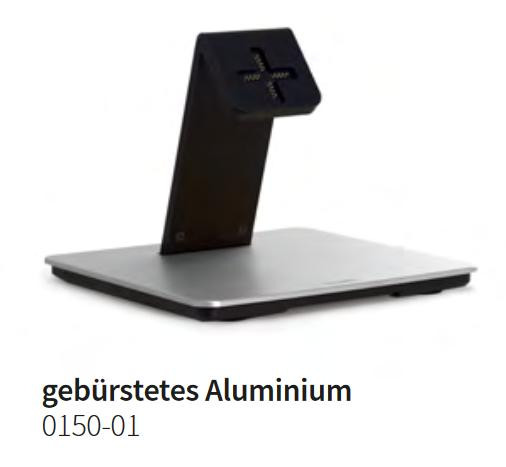 Basalte 0150-01 Eve plus - Table Base - gebürstetes Aluminium