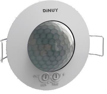 DINUY-DMK5X001 KNX RF S-Mode Funksender Batterie UP-Präsenzmelder 360° (7m bei 2,5m Montagehöhe)