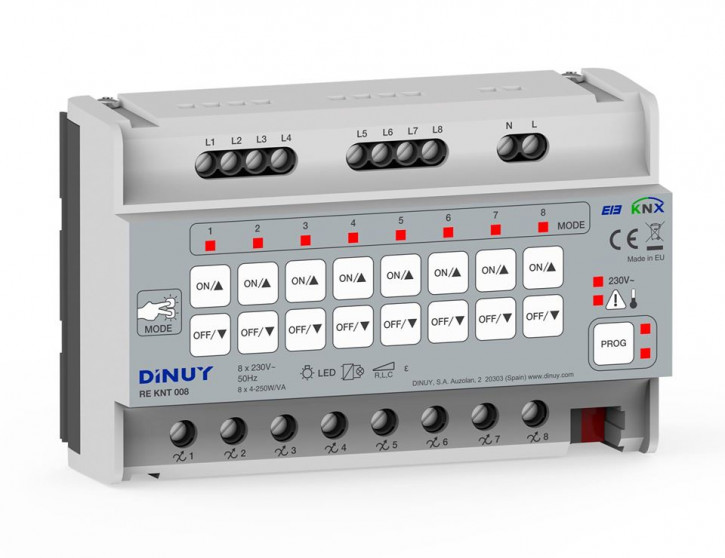 DINUY REKNT008 KNX-TP 8-Kanal KNX Universaldimmer LED Retrofit