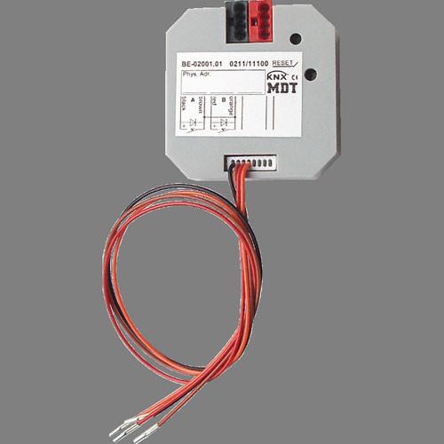 MDT BE-02001.01 Tasterinterface 2-fach, Unterputzgerät, Eingänge für potentialfreie Kontakte, LED Ausgang