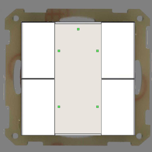 MDT BE-TA55P4.01 Taster 4-fach Plus, Reinweiss matt