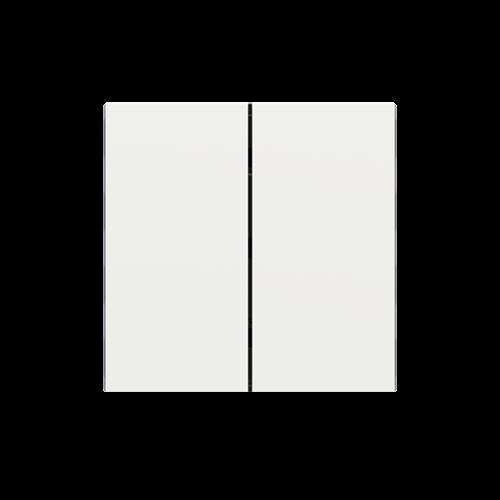 "EKINEX EK-TRV-FBM Tasten für 4fach Tasterelektronik, FF-Serie, 2 Stück, FENIX NTM®, Farbe ""malè white"""