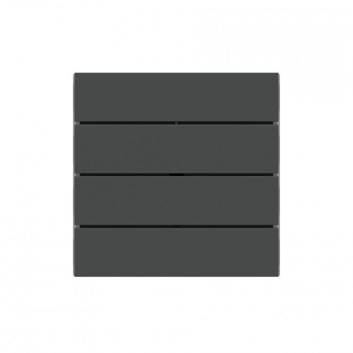 "EKINEX EK-TRO-FGB Tasten für 4fach Tasterelektronik, FF-Serie, 4 Stück, FENIX NTM®, Farbe ""grey bromine"""