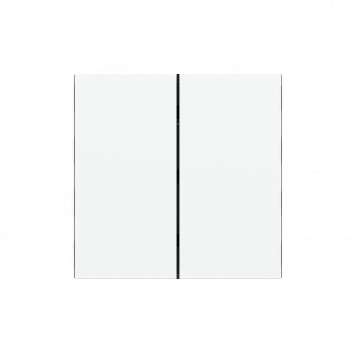 "EKINEX EK-TRV-GAA Tasten für 4fach Tasterelektronik, FF-Serie, 2 Stück, Kunststoff, Farbe ""ice white"""