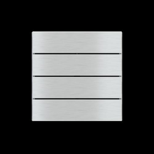 "EKINEX EK-TRO-GBQ Tasten für 4fach Tasterelektronik, FF-Serie, 4 Stück, Aluminium, Farbe ""aluminium"""