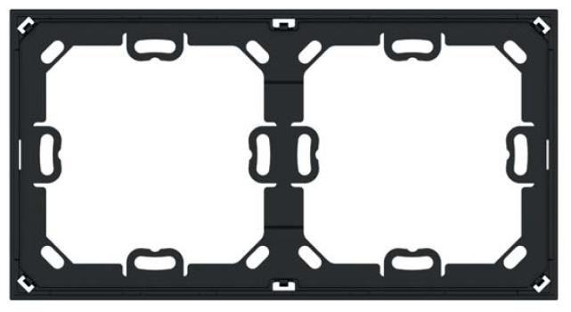 """EKINEX EK-A71-5-NF Schweizer Installationsadapter für eine rahmenfreie Doppelplatte (Serie """"NF und Deep"""") - 5 Stück pro Packung"""