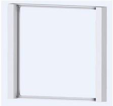 """EKINEX EK-FLQ-GBR """"Flank"""" Rahmen für Produkte aus der Serie-FF und Serie-71, Aluminium, 1 Stück, quadratisch, Farbe """"nickel"""""""