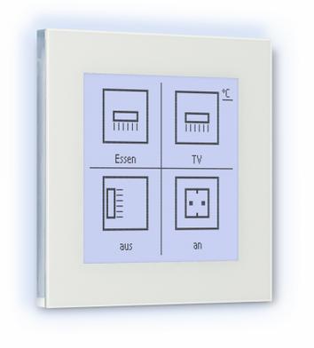 ELSNER 71280 Nunio M-T Glastaster Touch mit Display und Raumtemperaturregler