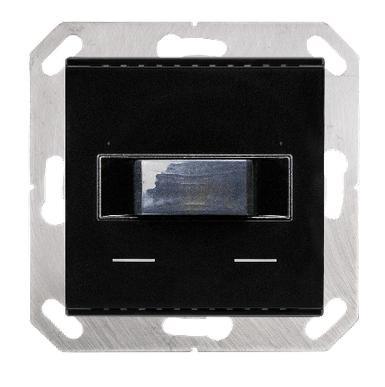 Elsner 70852 KNX T-L-Pr-UP Touch, Tiefschwarz RAL 9005, Präsenz-, Helligkeits- und Temperatursensor