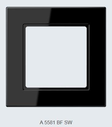 Rahmen Jung A550 passend für MDT 55er-Geräte tiefschwarz glänzend