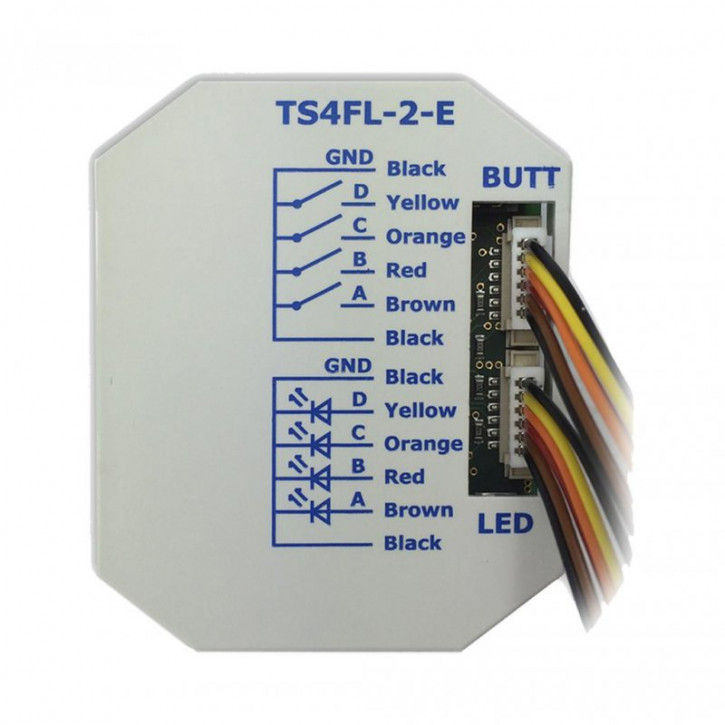 Lingg&Janke 79881 KNX eco+ Tasterschnittstelle für 4 Einzeltasten mit LEDs, mit Einzelader- Anschlüssen