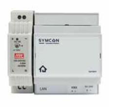 Lingg&Janke SYMBOX-ST 87360 Startpaket Symbox bestehend aus: Symbox (DHCP) mit integriertem KNX Interface (4TE), Basis-Softwarelizenz (250 Datenpunkte), passendes Netzteil (1,5 TE)