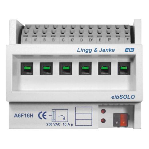Lingg&Janke 89205 KNX std. Schaltaktor 6-fach, Handbedienung, 2. Generation