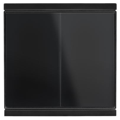 Elsner Corlo Taster M2-T schwarz, Rand schwarz matt