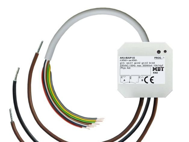 MDT AKU-B2UP.03 Universalaktor 2-fach, UP, 10A, 230VAC, 14µF, 2EVG