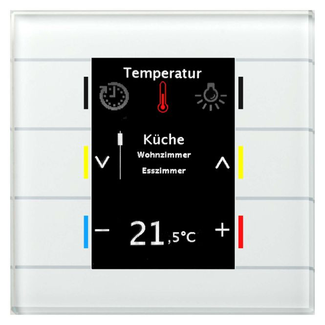 MDT BE-GBZW.01 Glas Bedienzentrale Smart mit Farbdisplay, Weiss