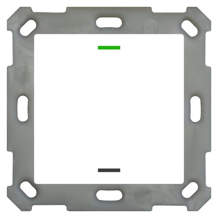 MDT BE-TAL55T1.01 Taster Light 55 1-fach, RGBW, Reinweiß glänzend, Ausführung NEUTRAL mit Temperatursensor, mit 1 Tastenpaar, 2 Tasterflächen Integrierter Busankoppler