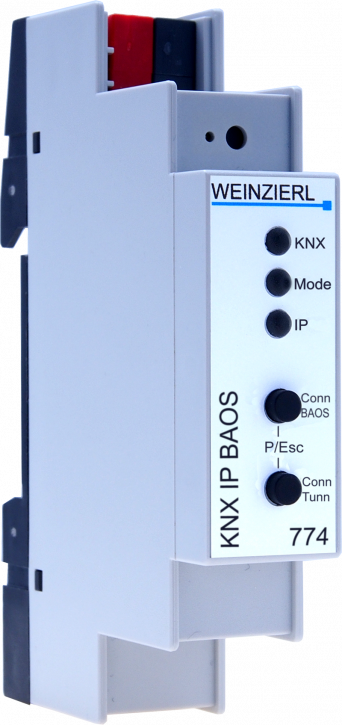 Weinzierl 5263 KNX IP BAOS 774, KNX IP Interface and Object Server / 1000 Datenpunkte - 2TE (36mm)