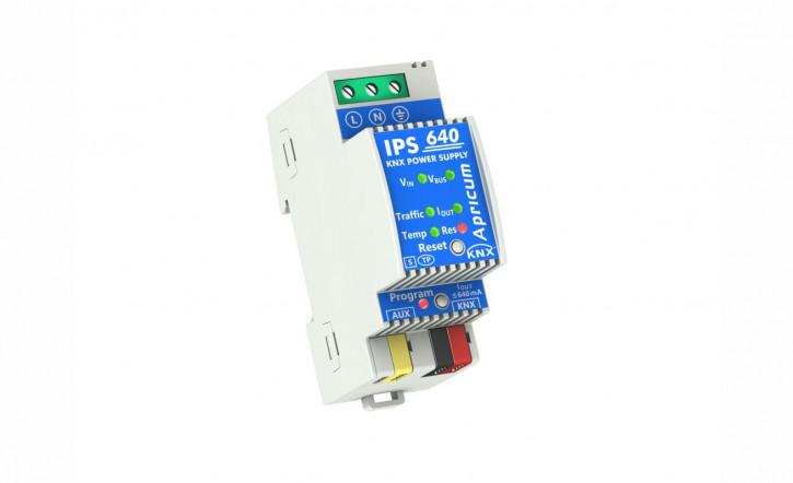 Apricum IPS640 - KNX Busspannungsversorgung 640mA mit intelligenter Diagnose- und Alarmfunktion, 2TE, REG
