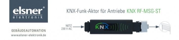 Elsner KNX RF-MSG-ST Funk-Aktor für Funk-Standard KNX RF S, zur Antriebssteuerung von Beschattungen und Fenster