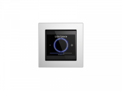 Elsner 70810 Cala Touch KNX 3.0 TH, weiß mit Temperatur- und Feuchtigkeitssensor, KNX-Raumklimasensor, Bediengerät und Display, 55mm