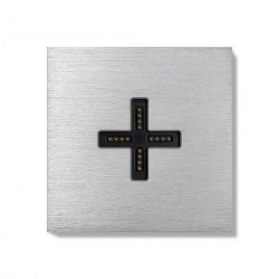 Basalte-0131-01 Eve plus - wall base cover - brushed aluminium