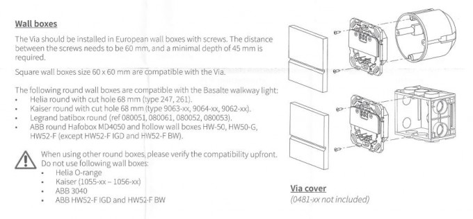 Basalte via Orientierungslicht 0480-11 230 V Elektronik