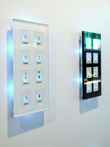mdt be glastaster 4 fach plus weiss mit temperatursensor. Black Bedroom Furniture Sets. Home Design Ideas