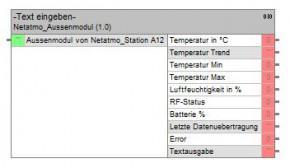 Netatmo Wetterstation, HomeServer Bausteine