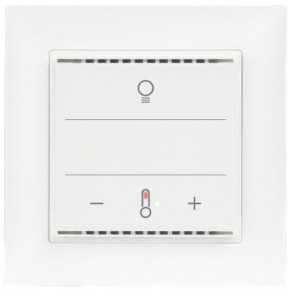Elsner 70951 Cala KNX MultiTouch T Light CH, Glastaster, berührungssensitiv, Weiß RAL9010 Taster für Licht, Sonnenschutz, Temperatur, Swiss-Edition