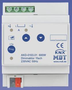 MDT AKD-0103.01 Dimmaktor 1-fach, 4TE, REG, 600W, 230VAC