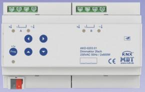 MDT AKD-0203.01 Dimmaktor 2-fach, 8TE, REG, 600W, 230VAC