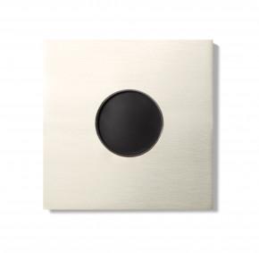 Basalte 0181-07 AURO Frontplatte für Wandeinbau - brushed nickel
