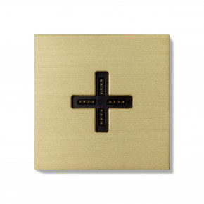 Basalte-0131-08 Eve plus - wall base cover - brushed brass