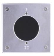 Baudisch autarker RFID Transponderleser ID6-JV mit V2A-Frontplatte