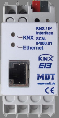 Occasion ohne Garantie: MDT SCN-IP100.01 IP Interface mit IP Routing, 2TE, REG