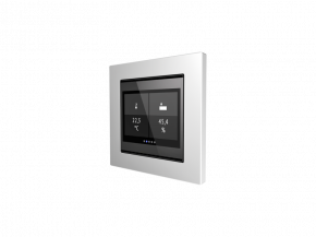 Elsner 70821 Cala Touch KNX AQS/TH CH, KNX-Sensor für CO2, Temperatur, Feuchte m. Display, reinweiß RAL 9010, Swiss Edition