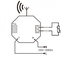 DINUY-SEK5X005 KNX RF S-Mode Funk-Sender Batterie mit externem Temperatursensor