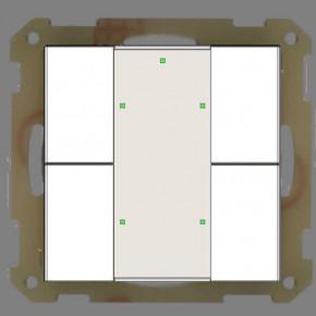 MDT RF-TA55A4.01 KNX RF Funk Taster 4-fach Plus; mit Aktor, Reinweiß glänzend, Status und Orientierungs LED